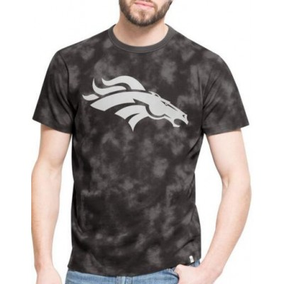 NFL Denver Broncos 47 Blackstone Black Camo Men's T-Shirt