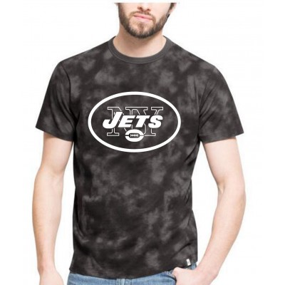 NFL Jets Team Logo Black Camo Men's T Shirt