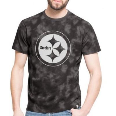 NFL Pittsburgh Steelers 47 Blackstone Black Camo Men's T-Shirt