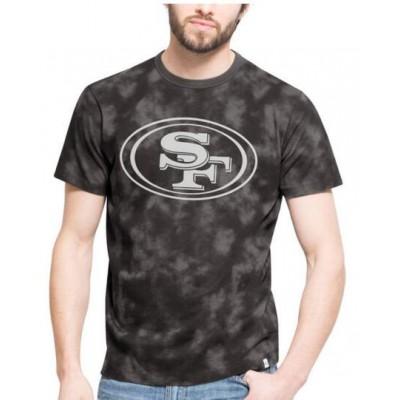 NFL San Francisco 49ers 47 Blackstone Black Camo Men's T-Shirt