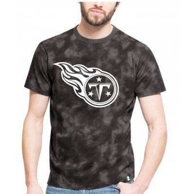 NFL Titans Team Logo Black Camo Men's T Shirt