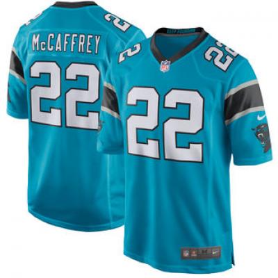 Nike Carolina Panthers 22 Christian McCaffrey 2017 Draft Blue Youth Jersey