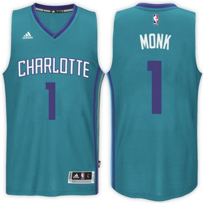Adidas Hornets 1 Malik Monk Alternate Teal 2017 NBA Draft Men Jersey