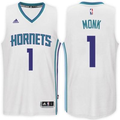 Adidas Hornets 1 Malik Monk Home White 2017 NBA Draft Men Jersey