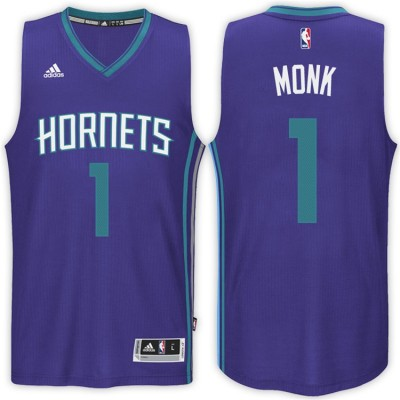 Adidas Hornets 1 Malik Monk Purple 2017 NBA Draft Men Jersey