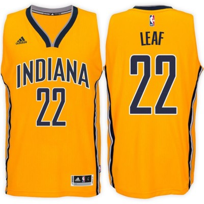 Adidas Pacers 22 T.J. Leaf Gold 2017 NBA Draft Men Jersey