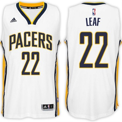 Adidas Pacers 22 T.J. Leaf Home White 2017 NBA Draft Men Jersey