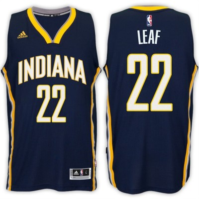 Adidas Pacers 22 T.J. Leaf Navy 2017 NBA Draft Men Jersey