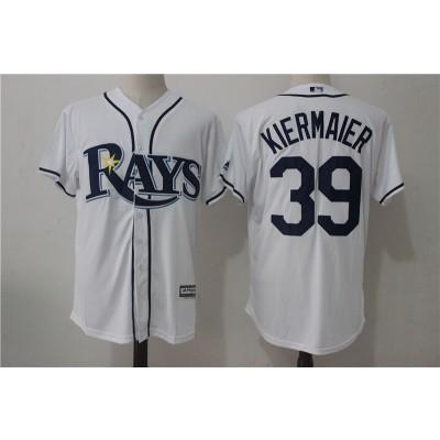 MLB Rays 39 Kevin Kiermaier White Cool Base Men Jersey