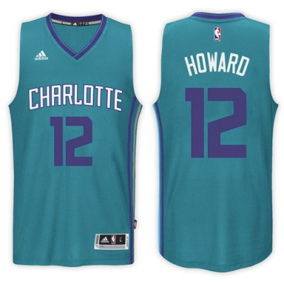 NBA Charlotte Hornets 12 Dwight Howard Blue Swingman Men Jersey