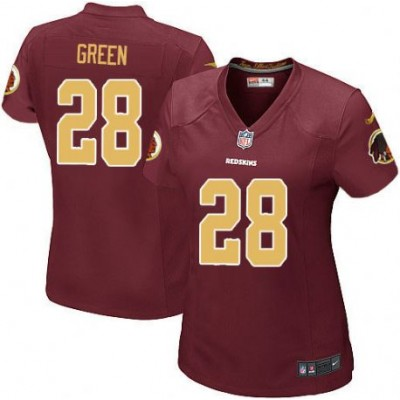 NFL Nike Washington Redskins 28 Darrell Green Burgundy Red Women Jersey