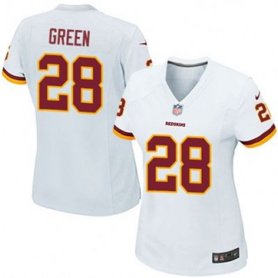 NFL Nike Washington Redskins 28 Darrell Green White Women Jersey