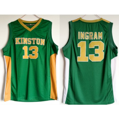 NCAA Kingston 13 Brandon Ingram Green High Scool Basketball Men Jersey