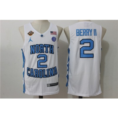 NCAA North Carolina Tar Heels 2 Joel Berry II White College Basketball Men Jersey