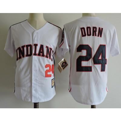MLB Indians 24 Roger Dorn White Movie Baseball Men Jersey