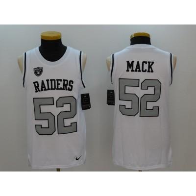 Raiders 52 Khalil Mack White Color Rush Tank Top