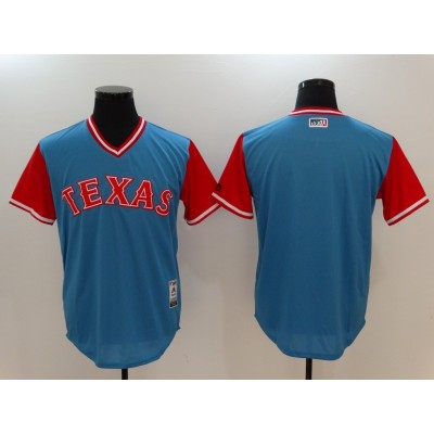 MLB Rangers Majestic Light Blue 2017 Players Weekend Men Jersey