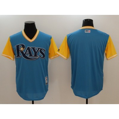 MLB Rays Majestic Light Blue 2017 Players Weekend Men Jersey