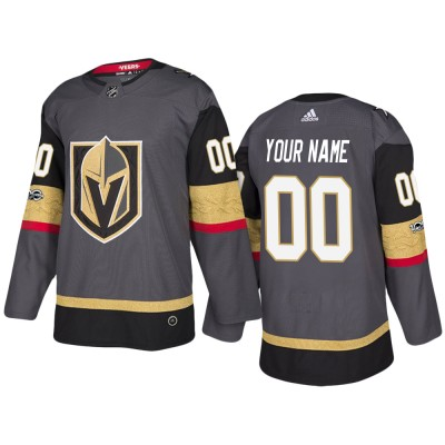 NHL Vegas Golden Knights Customized Grey Adidas Men Jersey