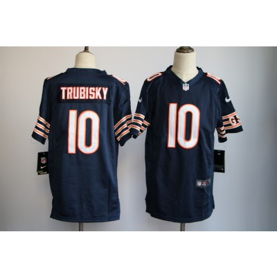 Nike NFL Chicago Bears 10 Mitchell Trubisky Navy Blue Youth Jersey