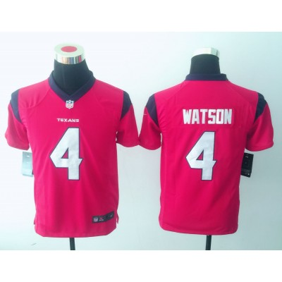 Nike NFL Texans 4 Deshaun Watson Pink Youth Jersey