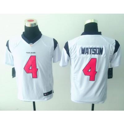 Nike NFL Texans 4 Deshaun Watson White Youth Jersey