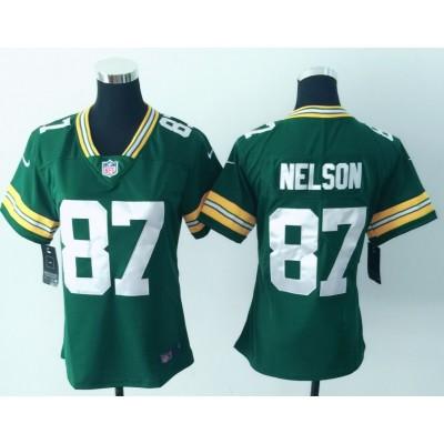 Nike Packers 87 Jordy Nelson Green Vapor Untouchable Limited Women Jersey