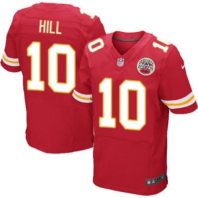 NFL Nike Kansas City Chiefs 10 Tyreek Hill Elite Red Men Jersey