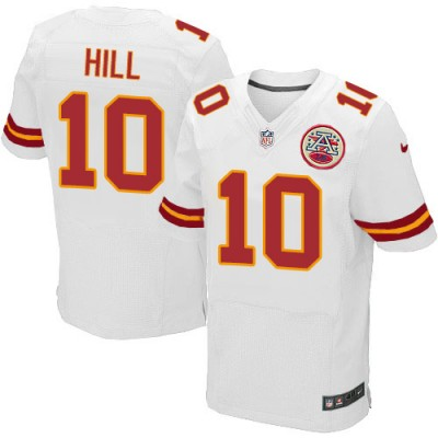 NFL Nike Kansas City Chiefs 10 Tyreek Hill Elite White Men Jersey