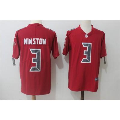 Nike Buccaneers 3 Jameis Winston Red Vapor Untouchable Limited Men Jersey