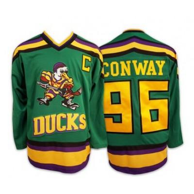 Anaheim Mighty Ducks 96 Charlie Conway Green Movie Hockey Men Jersey