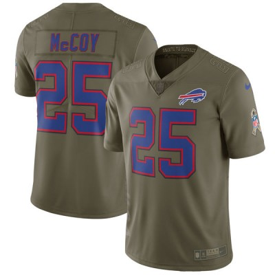 Nike Bills 25 LeSean McCoy Olive 2017 Salute To Service Limited Youth Jersey