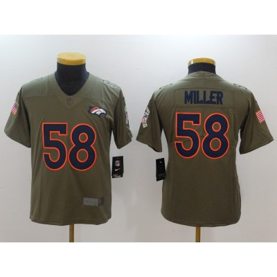 Nike Broncos 58 Von Miller Olive 2017 Salute To Service Limited Youth Jersey