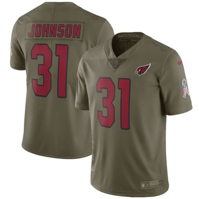 Nike Cardinals 31 David Johnson Olive 2017 Salute To Service Limited  Youth Jersey