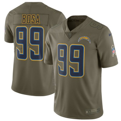 Nike Chargers 99 Joey Bosa Olive 2017 Salute To Service Limited Youth Jersey