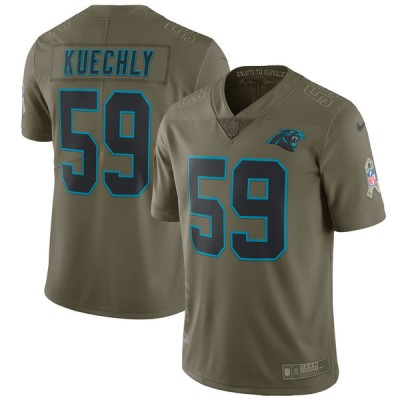 Nike Panthers 59 Luke Kuechly Olive 2017 Salute To Service Limited Youth Jersey