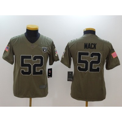 Nike Raiders 52 Khalil Mack Olive 2017 Salute To Service Limited Youth Jersey