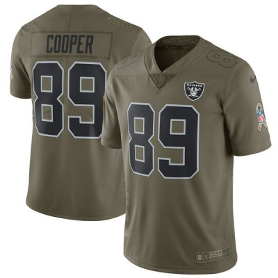 Nike Raiders 89 Amari Cooper Olive 2017 Salute To Service Limited Youth Jersey