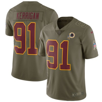 Nike Redskins 91 Ryan Kerrigan Olive 2017 Salute To Service Limited Youth Jersey