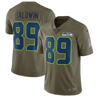 Nike Seahawks 89 Doug Baldwin Olive 2017 Salute To Service Limited Youth Jersey