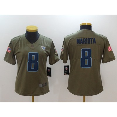 Nike Titans 8 Marcus Mariota Olive 2017 Salute To Service Limited Women Jersey