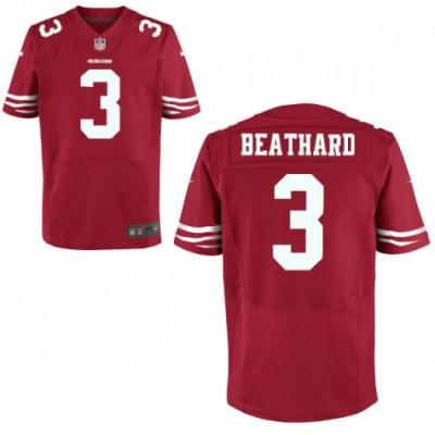 Nike San Francisco 49ers 3 C. J. Beathard Elite Red Men Jersey