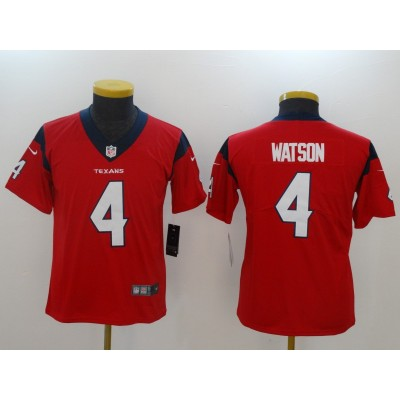 Nike Texans 4 Deshaun Watson Red Vapor Untouchable Limited Youth Jersey