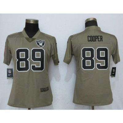 Nike Raiders 89 Amari Cooper Olive 2017 Salute To Service Limited Women Jersey