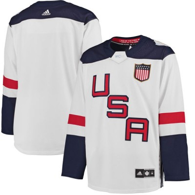 Team USA Blank White 2016 World Cup NHL Jersey
