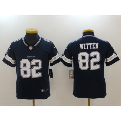 Nike Cowboys 82 Jason Witten Navy Blue Vapor Untouchable Elite Youth Jersey
