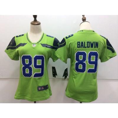 Nike Seahawks 89 Doug Baldwin Green Women Vapor Untouchable Player Limited Jersey