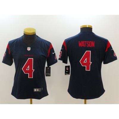 Nike Texans 4 Deshaun Watson Navy Color Rush Limited Women Jersey