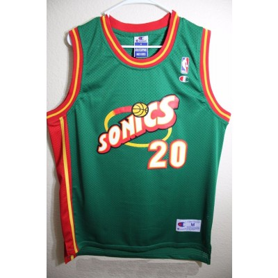 NBA Seattle Supersonics 20 Gary Payton Classic Swingman Men Jersey