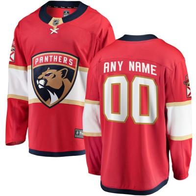NHL Florida Panthers Red Customized Fanatics Men Jersey